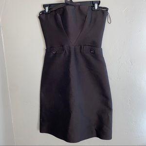 BOTTEGA VENETA    brown tube top dress size 38
